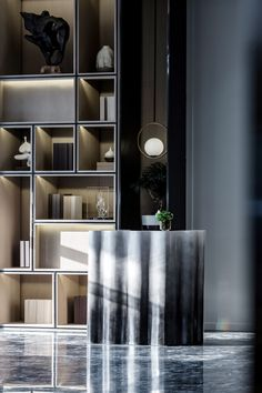 Find cost of reception desk only on this page Space Interiors, Dark Interiors, Hotel Interiors, Contemporary Interior, Modern Interior Design, Interior Architecture, Reception Desk Design, Villas, Restaurants
