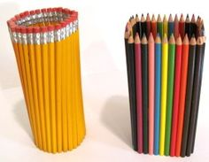 for the round pencil holder  A recycled water bottle 31 unsharpened    Unsharpened Round Pencil