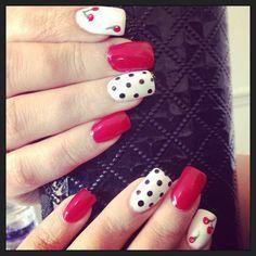 Nails by me #nails #gelish