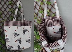 DIY tote with pocket