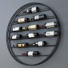 Buy the Label View Wall Wine Rack at Wine Enthusiast – we are your ultimate destination for wine storage, wine accessories, gifts and more! Wine Bottle Rack, Wine Rack Wall, Bottle Wall, Wine Wall Decor, Metal Wine Racks, Bottle Labels, Wine Bottle Holder Wall, Beer Labels, Bottle Packaging