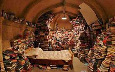"BOOK HOARDER. Bedroom/Library Vault House © Aravind Mokkapati, photographer ... This looks like my ""to read"" list! :)"