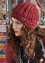 #10 Helmet Hat cabled hat, knit pattern by Deborah Newton. Published in Vogue Knitting, Holiday 2011.