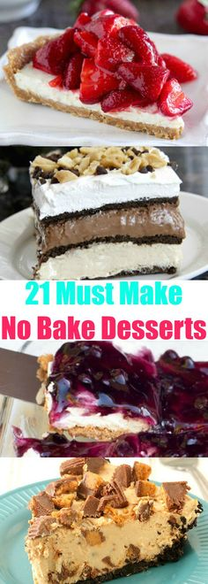 No-bake desserts are the way to go to beat the summer heat and still satisfy your sweet tooth! No-bake cheesecake, no-bake pie, no-bake fudge, cake and truffles. The hardest part is choosing… Icebox Desserts, Easy No Bake Desserts, No Bake Treats, Best Dessert Recipes, Summer Desserts, Easy Desserts, Delicious Desserts, Baking Desserts, No Bake Fudge