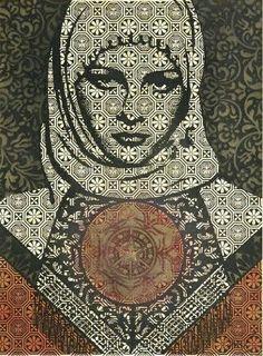 La femmina arabe retravaillee Piece Fine Art