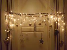 Fensterdeko Weihnachtszweig