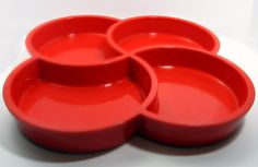 Gunnar Cyren Red FourSection Tray for Dansk by OliveandFrances, $15.00