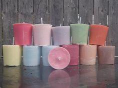 One dozen hand poured soy votive candles sampler by CrochetByMel, $32.50 #FreeUSAShip #soyvotive
