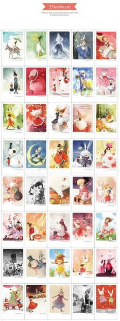 Korea illust Mini Postcard Kim min-ji Edition Tin by pikwahchan