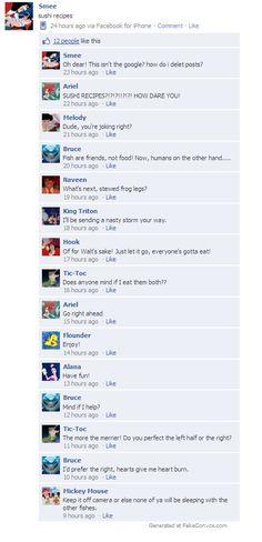 Disney Meets Facebook: Sushi