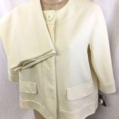 2PC Anne Klein Pants Suit Petite 2P Stretch Soft White Picasso Sophisticated NWT #AnneKlein #PantSuit
