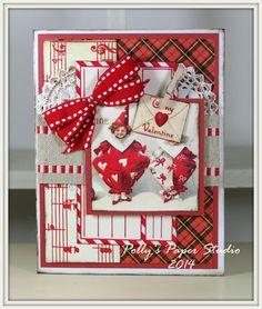 Red Plaid Valentine Greeting Card Handmade by PollysPaper on Etsy, $6.50