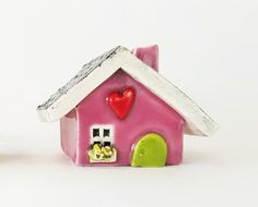 Little Clay House Ceramic House Whimsical House by BethSMacre