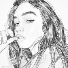 """3,379 Likes, 16 Comments - @zukellogs on Instagram: """"Before the copics. Love's thene.mp3 #illustration #graphic #longhair #makeup #monday #lunes…"""""""