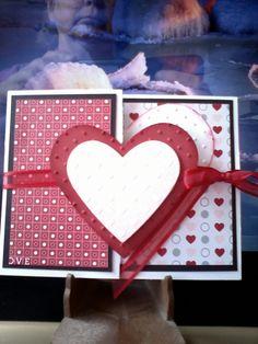 Looks cute, I need a heart shaped punch.