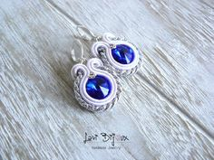 image 0 Handmade Necklaces, Handmade Jewelry, Soutache Necklace, Polymer Clay Charms, Artificial Leather, Swarovski, Chain, Beads, Display Stands