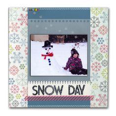 Snow Day Vellum Snowflakes Layout