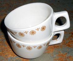 Vintage Cups Mark Buffalo Coffee Mugs Buffalo China by TheBackShak, $11.00