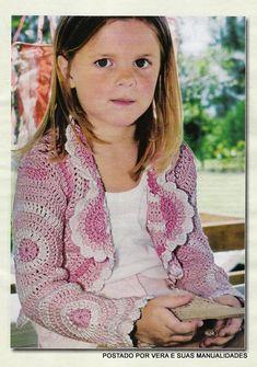As Receitas de Crochê: Casaco de crochê tam 4-5 anos
