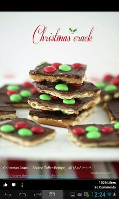Christmas Crack - Saline Crackers topped with Chocolate