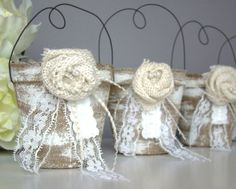vintage wedding party favors | Wedding Favor Bag, Container, Country, Vintage, Party Favor, Bridal ... Country Wedding Favors, Vintage Wedding Favors, Wedding Favor Bags, Wedding Party Favors, Vintage Party, Country Weddings, Vintage Bridal, Retro Vintage, Bridal Shower Rustic