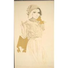 Lithograph Art Print Signed Christine Rosamond