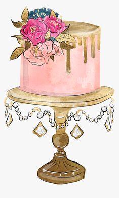 Cupcake Logo, Cupcake Art, Cake Drawing, Food Drawing, Cake Illustration, Food Illustrations, Happy Birthday Images, Happy Birthday Wishes, Cake Sketch