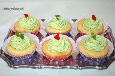 Syrové cupcakes s cesnakovým krémom