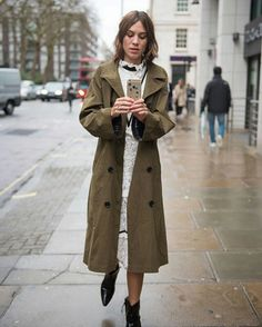 Alexa Chung after the Erdem AW16 show during London Fashion Week | February 22, 2016