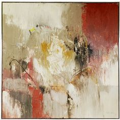 1STDIBS.COM - Modern Epic Antiques - Elba Alvarez - Abstract Expresionist Painting by Elba Alvarez found on Polyvore
