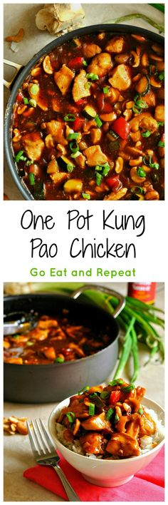 Full of amazing flavor, this one pot, 32 minute Kung Pao Chicken will make you rethink ordering takeout ever again!