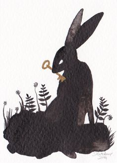 Hare and Key - ACEO - Original Art Card Illustration available on Etsy Prey Animals, Bunny Art, Hare, Mammals, Original Artwork, I Shop, Moose Art, Art Pieces, Finders Keepers