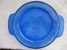 "Vintage USA Anchor Ovenware Cobalt Blue Deep Dish 9"" Pie Plate 1073 | eBay"