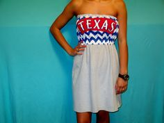 Texas Rangers Game Day Dress on Etsy, Sold