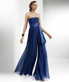 Büzgülü Mavi Renk Tül Abiye Straplez Model 2014 Yaz Şık Tulum Modelleri Ve Kombinleri
