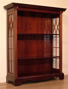 *ATTRACTIVE SMALL VINTAGE CARVED MAHOGANY FLOOR STANDING OPEN BOOKCASE SHELVES* Open Bookcase, Bookcase Shelves, Mahogany Flooring, Carving, Living Room, Ebay, Vintage, Home Decor, Decoration Home