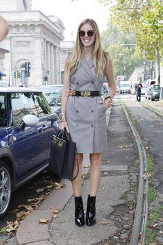 Chiara Ferragni Street Style Milan Fashion Week primavera verano 2013