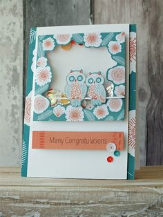 Handmade congratulations card with an owl theme. Card made using the Owl Folk collection.