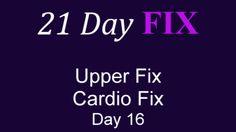 Beachbody 21 DAY FIX 16 Upper Fix and Cardio Fix Workout FULL Video HD (...