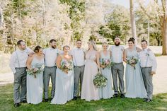 Rustic Summer Barn Wedding with Simple Details // Brandon & Erika // Brandon & Erika were married in the late summer of 2020. Their rustic barn wedding featured soft baby blue accents, wild florals, and simple, rustic details. Bridesmaids, Bridesmaid Dresses, Wedding Dresses, Groomsmen Fashion, Country Barn Weddings, Wedding Planning, Wedding Ideas, Blue Accents, Late Summer