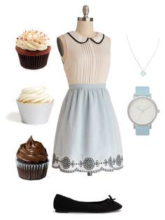 """""""Baking cupcakes"""" by c-whitmore ❤ liked on Polyvore featuring Nly Shoes, Wolf & Moon and The Horse"""