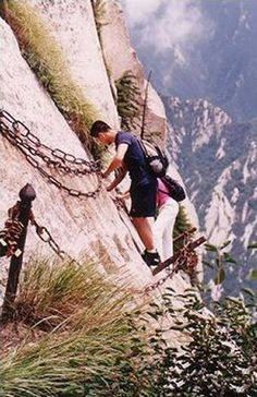 Mt Huashan Hiking Trail. Crazy and scary.
