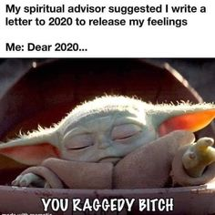2020 you raggedy bitch Sam Memes, Memes Br, Yoda Meme, Nurse Problems, Pregnancy Memes, Spiritual Advisor, Funny Quotes, Funny Memes, Star Wars Baby