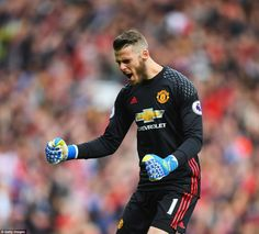 By contrast, United's largely redundant goalkeeper David de Gea was jubilant at the other end as the goals rained in