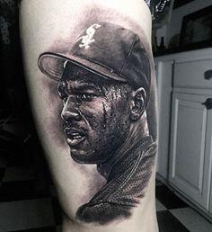 Michael Jordan tattoo by @stevebutchertattoos #inked #inkedmag #freshlyinked…