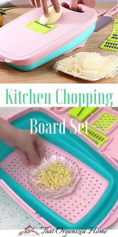 Super convenient and multi-purpose use cutting board that makes the cooking simple and fun.It saves more time and energy,and you deserve a good kitchen helper.Environmentally friendly material,healthy,long service life  #cookingtools #kitchengadgets #thatorganizedhome #choppingboards