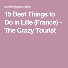 15 Best Things to Do in Lille (France) - The Crazy Tourist