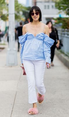 Women Who Look Young for Their Age Tend to Wear This Outfit Formula via @WhoWhatWearUK