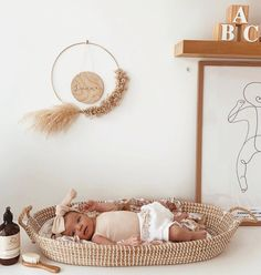 There's no better time to change than now // Olli Ella Reva changing basket is ethically made and you will love every single diaper change with it 😬🤨{okay fine. Perhaps not} sweetest babe and changing setup belonging to Nursery Room Decor, Nursery Themes, Girl Nursery, Girl Room, Boho Nursery, Bedroom Decor, Baby Changing Station, My Bebe, Baby Bedroom