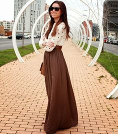 GirlBelieve: Fashion, style, trends, how to wear ideas, inspiration: How to Wear a Maxi Skirt for Fall?